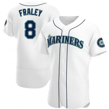 Authentic Jake Fraley Men's Seattle Mariners White Home Jersey